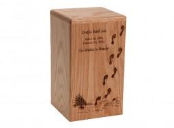 Footprints Oak Wood Urn