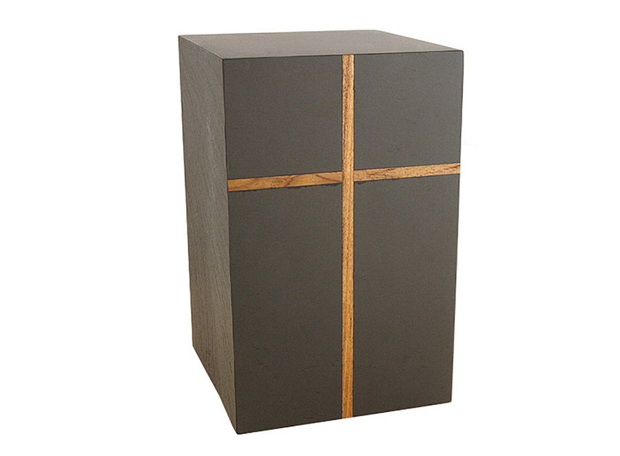 Harpswell Slate Teak Cross Inlay