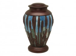 Mosaic Wheat Urn