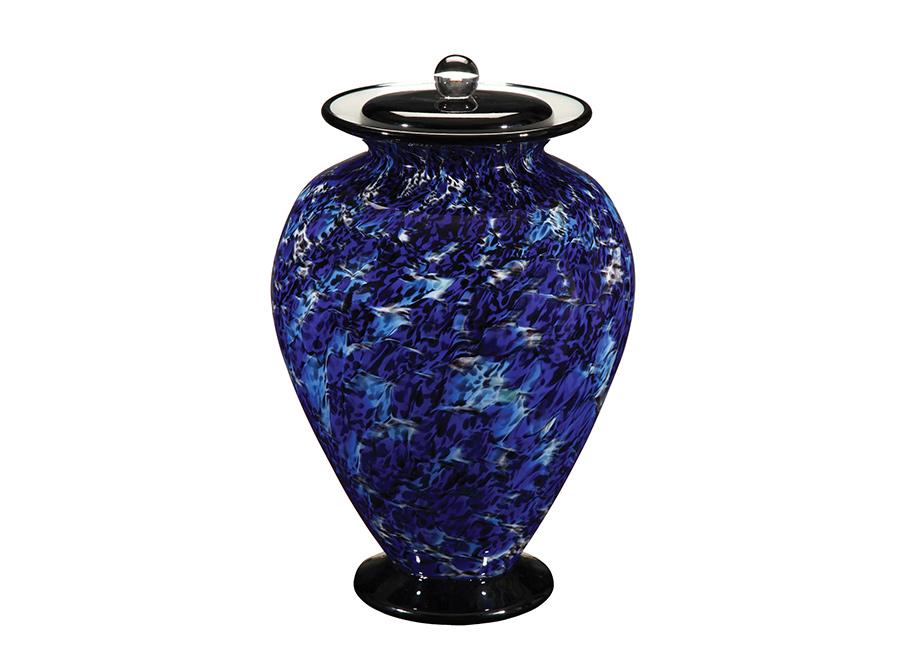 Flared Classic Blue Glass