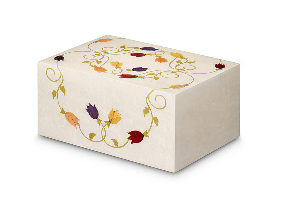 Alexandra Flower Inlay Urn