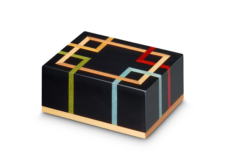 Augustus Black Square Line Inlay